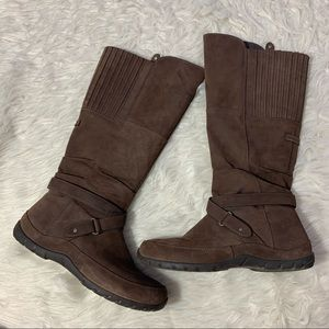 THE NORTH FACE Waterproof Tall Boot Brown Leather